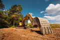 Excavator On Construction Site Stock Photography - 45340782