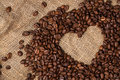 Heart From Coffee Beans. Close-up. Stock Photos - 45344093