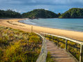 Entrance To A Deserted Beach In Northland, New Zealand Stock Photography - 45344702