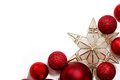 Christmas Decorations Border For Greeting Card Royalty Free Stock Image - 45345986