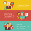 Law Court Judge Policeman Religion Social Flat Infographics Royalty Free Stock Photos - 45358348