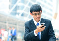 Man On Smart Phone - Young Business Man. Casual Urban Profession Stock Photo - 45358740