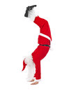 Santa Claus Standing Head Over Feet Stock Images - 45372674