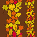 Leaves Seamless Wallpaper Background, Vector Royalty Free Stock Image - 45381246
