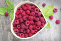 Raspberry In Small Bowl Royalty Free Stock Images - 45381539