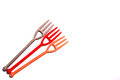 Cute Small Plastic Forks Stock Photo - 45387520