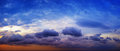 Panorama Of Beautiful Cloudy Sky With Sunshine Over The Sea Hori Stock Images - 45388834