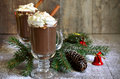 Hot Chocolate In A Glass. Royalty Free Stock Photos - 45390508