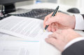 Businessman Signing A Contract Stock Photo - 45393940