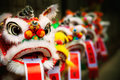 Traditional Colorful Chinese Lion Stock Photography - 45401142