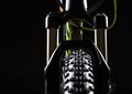 Close-up Of A Mountain Bike Spring Fork Royalty Free Stock Images - 45409309