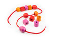 Colorful Wooden Beads Necklace Stock Images - 45414944