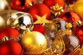 Christmas Baubles, Ribbons And Bows Royalty Free Stock Photography - 45416307
