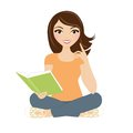 Reading Book Woman Royalty Free Stock Photography - 45420887