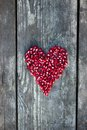 Pomegranate Seeds In Heart Shape Stock Image - 45423571