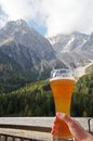 Beer In Alpine Scenery Royalty Free Stock Photo - 45424705