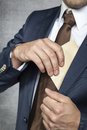 Businessman Hiding Bribes Royalty Free Stock Photography - 45427977
