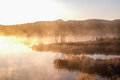 Mist Of Lake In The Early Morning Stock Image - 45428611