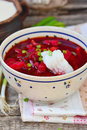 Traditional Ukrainian Beet Soup Borsch Royalty Free Stock Image - 45430626