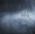 Halloween Background With A Spooky Castle On The Mountain Stock Photos - 45430953
