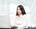Young And Attractive Businesswoman Working In Office Royalty Free Stock Photos - 45431938