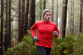 Running Man In Forest Woods Training Royalty Free Stock Photography - 45437187