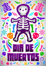 Dia De Muertos - Mexican Day Of The Death Spanish Text Royalty Free Stock Images - 45458639