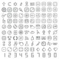 100 Vector Line Icons Set Royalty Free Stock Photos - 45462008