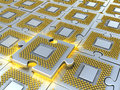 Puzzle Made Of Fantasy CPU. Conceptual Technology 3d Illustration Stock Photo - 45485030