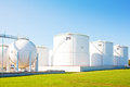 Oil Storage Tanks Stock Images - 45495064