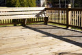 Wood Deck With Seating Area Royalty Free Stock Photo - 4553385