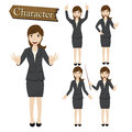 Businesswoman Character Set Vector  Illustration Royalty Free Stock Images - 45503929