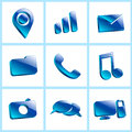 Set Glass Icons Button Color Symbol Royalty Free Stock Images - 45509229