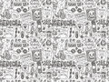 Seamless Doodle Medical Pattern Royalty Free Stock Photography - 45520797