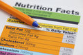 Nutrition Facts Royalty Free Stock Image - 45523556