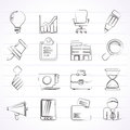 Business And Office Icons Royalty Free Stock Photo - 45528535