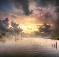 Dawn Over The Lake Royalty Free Stock Photography - 45534797