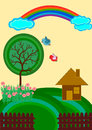 Kids Lanscape Vector Royalty Free Stock Photos - 45535138