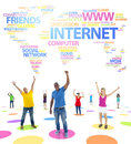 Youth Social Networking And A Word World Map Stock Photos - 45539303