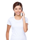 Woman Talk To Cell Phone Stock Image - 45547181