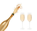 Bottle Of Champagne Royalty Free Stock Photos - 45548138