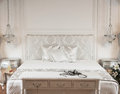 White Bed In Spa Hotel Royalty Free Stock Photo - 45550175