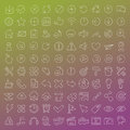 100 Vector Line Icons Set Royalty Free Stock Photography - 45557967