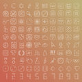 100 Vector Line Icons Set Stock Image - 45558201