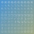 100 Vector Line Icons Set Royalty Free Stock Image - 45558266