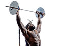 Body Builders Building Weights Man Silhouette Royalty Free Stock Image - 45562336
