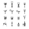 Vector.drink Icon Set Royalty Free Stock Image - 45563516