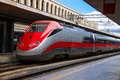 The Train Stops Near The Platform Station In Italy Royalty Free Stock Photography - 45570587