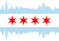 Chicago Flag Royalty Free Stock Photography - 45577057