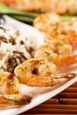 Grilled Shrimps Royalty Free Stock Photo - 4562345